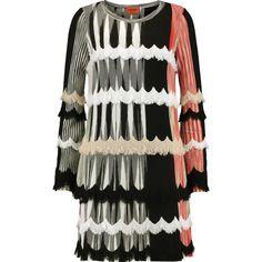 Missoni Frayed crochet-knit wool-blend mini dress (3553795 PYG) ❤ liked on Polyvore featuring dresses, multi, short dresses, colorful dresses, crochet mini dress, loose mini dress and slimming dresses