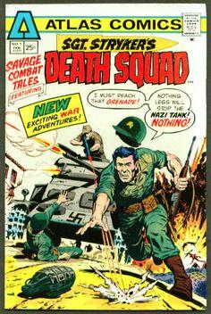 Savage Combat Tales - The World War II adventures of Sgt. Stryker and his Death Squad. Dc Comic Books, Comic Book Covers, Comic Art, War Comics, Film D'animation, Savage, Novels, Adventure, Comics