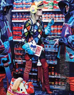 Vogue Japan – My Market Days Supermarket shopping can be a dull chore. Unless that is, you live in the world of Anna Dello Russo…