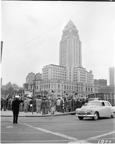 Author James Ellroy and the LA Police Museum Explores The Seedy Crimes Of 1953 In LAPD '53, in a new book. Photo: Groundbreaking of the police administrative building at 1st and Los Angeles street, which was eventually renamed Parker Center.