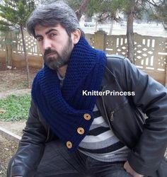 Knitting cowl mens cowl mens neck warmers knit by KnitterPrincess