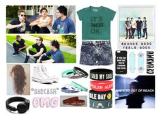 """""""Behind The Scenes of She's Kinda Hot !"""" by itsme-bibicha ❤ liked on Polyvore featuring rag & bone, Jac Vanek, Converse, Freddy and Urbanears"""
