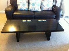 black veneer coffee table