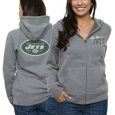 New York Jets Ladies Game Day Full Zip Hoodie