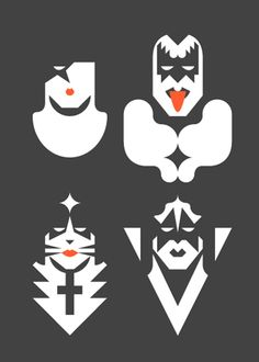Kiss. Pop Culture Icons by Forma & Co