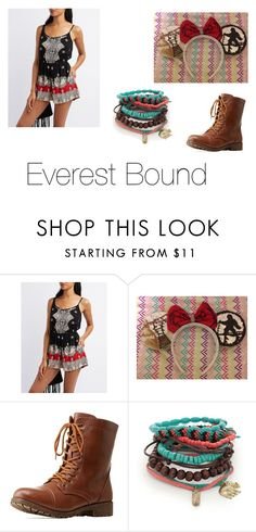 """""""Everest Bound"""" by disneyboundqueen on Polyvore featuring Charlotte Russe, Bamboo and Red Camel"""