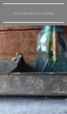 Metal bin trough 2 compartment footed w/ bird finial table centerpiece farmhouse.- Metal bin trough 2 compartment footed w/ bird finial table centerpiece farmhouse rustic planter bins home garden su Indoor Garden, Home And Garden, Farmhouse Table Centerpieces, Rustic Planters, Garden Types, Gardening Supplies, Rustic Farmhouse, Display, Bird