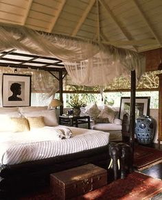 A Walk in the Countryside: British Colonial / West Indies Bedrooms