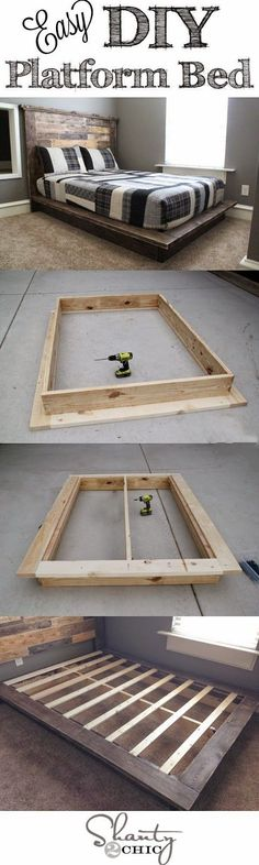Best DIY Projects: Easy DIY Platform Bed that anyone can build! #diyhomedecor