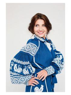 """#Ukrainian #Style #Spirit of #Ukraine Довга сукня """"Rooster"""" з вишитим клином"""