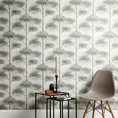 Buy John Lewis Retreat Wallpaper, Monochrome Online at johnlewis.com
