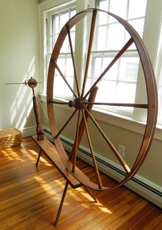 Great wheels: One of the first type of spinning wheels