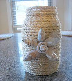 cute mason jar idea. matches my bottles I have already done