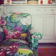 Loving this new upholstered chair! #Blackandspiro #Blackandspirointeriordesign