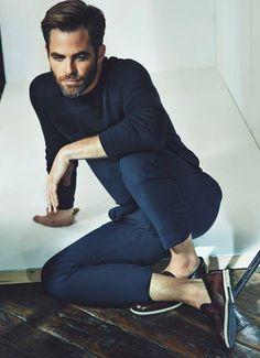 Chris Pine by Tomo Brejc Harrison Ford, Amanda Seyfried, Logan Lerman, Pretty People, Beautiful Men, Beautiful People, Men Dress, Navy Dress, Dress Pants