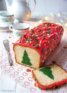 Kuusikakku   Reseptit   Kinuskikissa Meatloaf, Vanilla Cake, Banana Bread, Cake Recipes, Sandwiches, Food And Drink, Treats, Candy, Baking