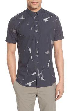 Theory 'Zachary' Trim Fit Short Sleeve Shirt