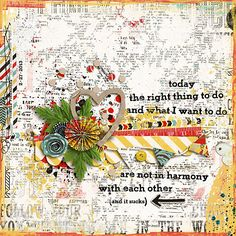 YOLO by Jenn Barrette  Page Blends no3 by Katie Pertiet  Kinda Edgy v1 by Litabells  Doily Borders by The Ardent Sparrows  Sew Artsy - Just the Stitches by Michelle Godin  Fonts: FO-Giggles
