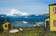 """""""Fresh Ocean Breeze"""" by Derek Button Canadian Painters, Canadian Artists, Bright Pictures, Pretty Pictures, Line Photography, Newfoundland And Labrador, Newfoundland Canada, Ocean Scenes, Diy Painting"""