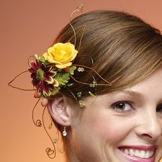 Prom flowers: Don't Forget the Guys! New Boutonniere Styles for Prom flowers in the hair rose daisy