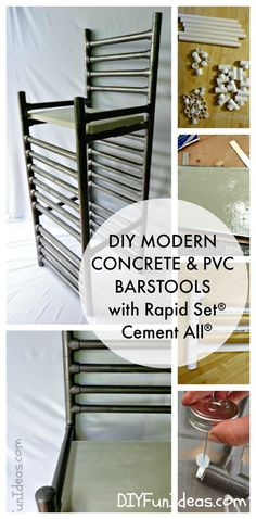 Diy Modern Concrete And Pvc Bar Stools