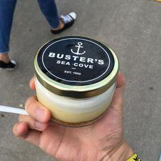 It's Key Lime Pie in a Jar by Buster's Sea Cove. #food #foodie #toronto #fieldtripto
