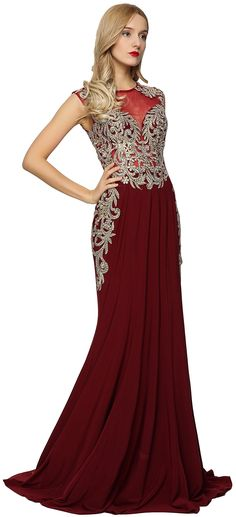 Meier Womens Sleeveless Gold Embroidery Evening Formal Dress Burgundy size 16 *** Click photo for even more details. (This is an affiliate link). Formal Dresses For Women, Formal Evening Dresses, Sexy Dresses, Gold Embroidery, Size 16, Burgundy, Click Photo, Detail, Collection