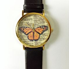Butterfly Watch  Vintage Dictionary Print Vintage por FreeForme, $12.00