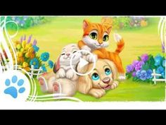 Collect delicious candy-like fruits to solve match-3 puzzle! Play with fluffy animal friends: cat, puppy and bunny!
