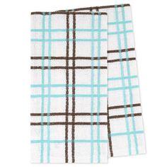 Picture of Aqua Plaid Tea Towel - 2 Pack