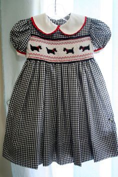 Girl's Heirloom HandSmocked Square Yoke Dress by TheBeeGarden, $50.00