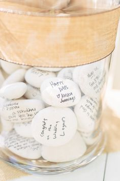 wedding river rock guestbook idea