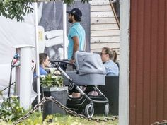 Prince Carl Philip, Princess Sofia & Prince Alexander were photographed in Båstad with friends