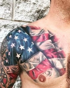 49 Trendy Tattoo Ideas For Guys Top 10 American Flag Band Tattoos, Army Tattoos, Military Tattoos, Body Art Tattoos, Tatoos, Rebel Flag Tattoos, Free Tattoo Designs, Design Tattoo, Japanese Tattoo Designs