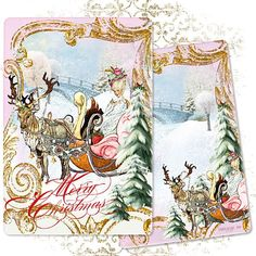 Marie Antoinette Over The River and Through the Woods Christmas new for 2012 Holiday Season by Paulette Kinney / PaperNosh.com