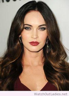 Megan Fox fashion smokey eyes
