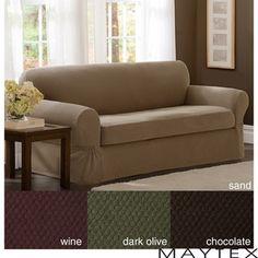 Maytex Stretch 2-piece Pixel Sofa Slipcover | Overstock.com Shopping - Big Discounts on Maytex Sofa Slipcovers