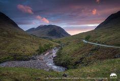 Glen Etive Sunset, Highland of Scotland.