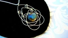 Wire Wrapped Celtic Pendant Necklace Labradorite Sterling Silver on Luulla by ana9112