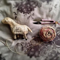 a Wool gatherer. And tool gatherer too. Some much-loved handmade snippets here with Julie Arkell lamb (her workshops and creations at Loop are up on our website) and Cohana Shozoburo thread clips.