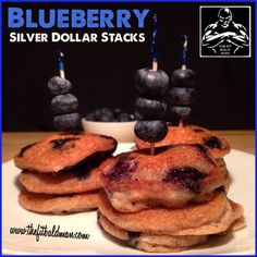 blueberry silver dollar stacks - THE FIT BALD MAN