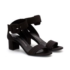 Xabell Satin Sandal Black Silk Satin, Black Sandals, Bag Making, Block Heels, Chic, Leather, How To Wear, Bags, Shoes