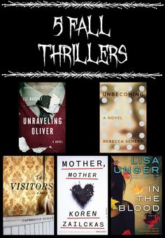 5 thrilling novels filled with mystery and suspense. Perfect for fall reading.
