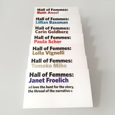 Hall of Femmes Book series