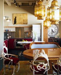 eclectic kitchen, attention to details..yum~
