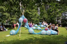 The giant knitting nancy. London