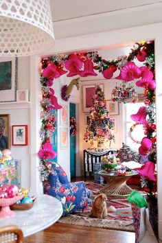 Christmas-tree-hot-pink- by Aunt Peaches