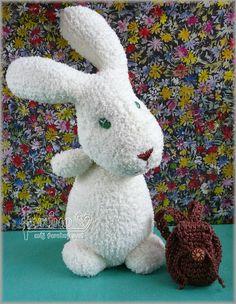 Evkino - môj farebný svet: Veľkonočný ponožkový zajko