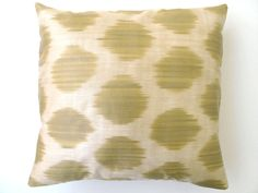 Decorative Silk Ikat Throw Pillow Cover by DivanCushu : 16x16inch via Etsy.