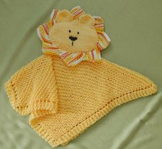 PDF Knitting Pattern HugKnits LION Security blanket by CTHdesign